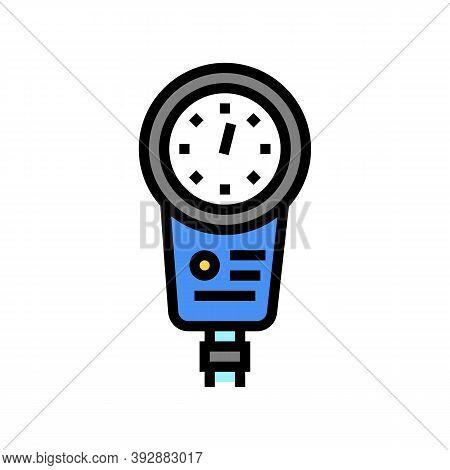 Depth Gauge Color Icon Vector. Depth Gauge Sign. Isolated Symbol Illustration