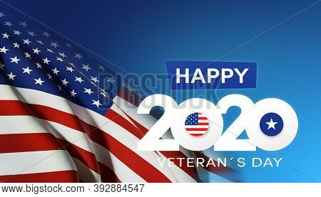 American National Holiday. Us Flag Background With American Stars, Stripes And National Colors. Memo
