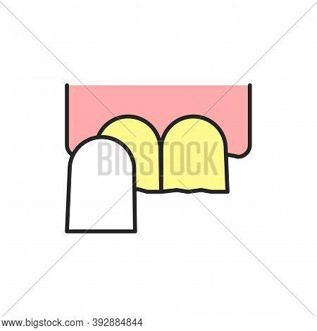 Dental Veneers Color Line Icon. Pictogram For Web Page, Mobile App, Promo.