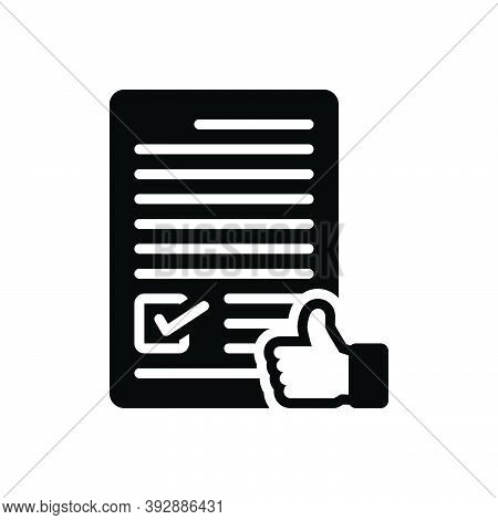 Black Solid Icon For Agree Concur  License Consent Permit Terms Conditions Approve Accept Agreement