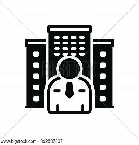 Black Solid Icon For Owner Holder Property Estate House Mortgage Apartment Master Proprietor Landlor