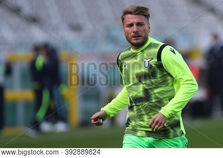 Torino, Italy. 1st November 2020. Ciro Immobile Of Ss Lazio   During The Serie A Match Between Torin