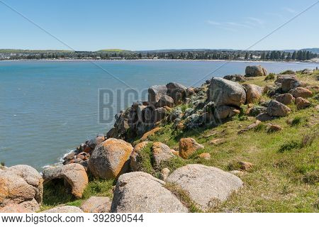 Beautiful Seaside Town Of Victor Harbor, View From Rocky Granite Island