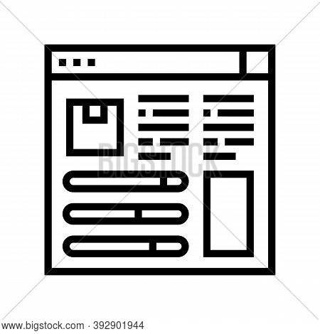 Product Information And Characteristics Line Icon Vector. Product Information And Characteristics Si