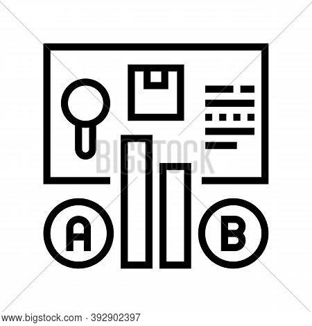 Comparison Market Line Icon Vector. Comparison Market Sign. Isolated Contour Symbol Black Illustrati