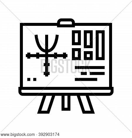 Graphics Geek Line Icon Vector. Graphics Geek Sign. Isolated Contour Symbol Black Illustration