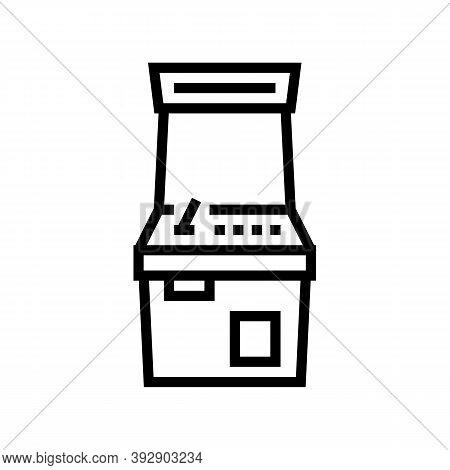 Slot Machine Geek Line Icon Vector. Slot Machine Geek Sign. Isolated Contour Symbol Black Illustrati