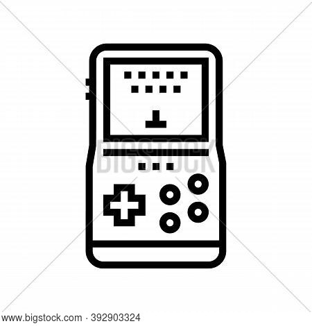 Gaming Geek Line Icon Vector. Gaming Geek Sign. Isolated Contour Symbol Black Illustration