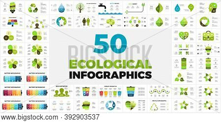 50 Ecological Infographic Templates. Presentation Slides Pack For Eco Initiatives And Environmental