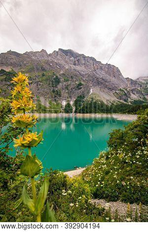 Lac De Tseuzier, Valais, Switzerland. Swiss Lake