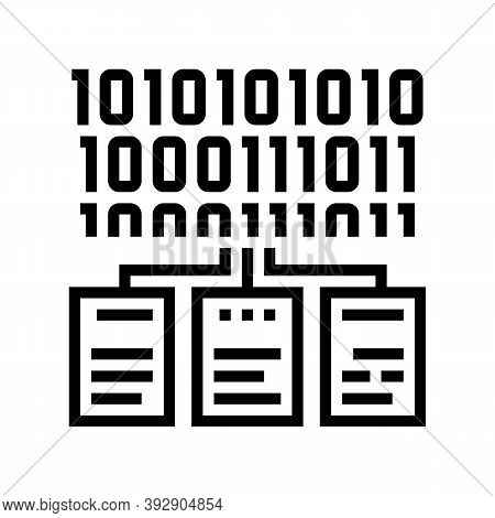 Files Encryption Line Icon Vector. Files Encryption Sign. Isolated Contour Symbol Black Illustration