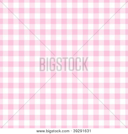 Seamless Light Pink Gingham Plaid