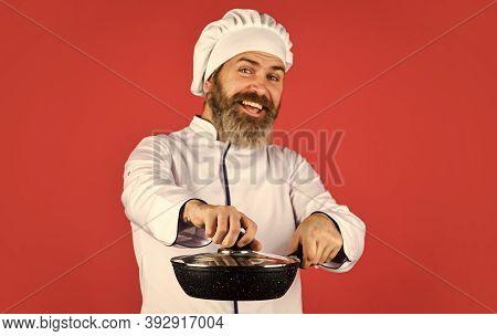 Homemade Breakfast. Cooking Like Pro. Easy Tasty Meal Prepared At Home. Ceramic Applied Pan. Prepari