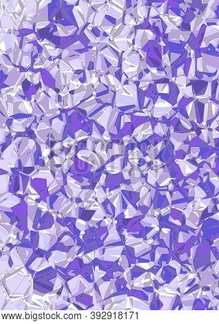 Beautiful Background With Amethyst Crystals. There Is An Option In The Vector.