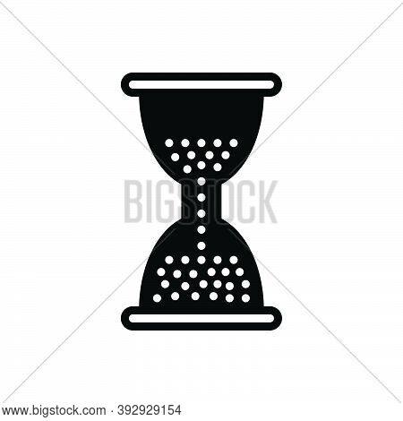 Black Solid Icon For Remain Hourglass Sandglass Sand Hour Timer Countdown Instrument Wait