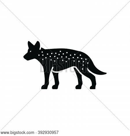 Black Solid Icon For Hyena Danger Mammal Carnivorous Nature Animal Jungle Wildlife Zoo