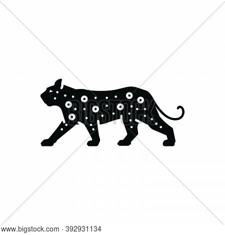 Black Solid Icon For Leopard Carnivorous Cheetah Danger Jaguar Fast Predator Nature Animal Jungle Wi