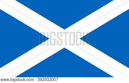 Scotland Flag With Official Colors And The Aspect Ratio Of 3:5. Vector Illustration.