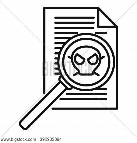 Fraud Personal Paper Icon. Outline Fraud Personal Paper Vector Icon For Web Design Isolated On White