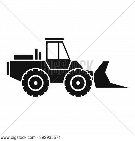 Front Bulldozer Icon. Simple Illustration Of Front Bulldozer Vector Icon For Web Design Isolated On