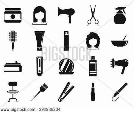 Beauty Stylist Icons Set. Simple Set Of Beauty Stylist Vector Icons For Web Design On White Backgrou