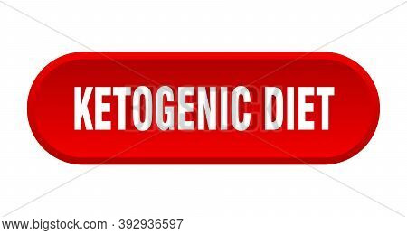 Ketogenic Diet Button. Rounded Sign On White Background