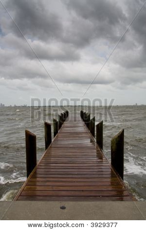 Pier On A Stormy Afternoon - Vertical