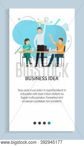 Business Idea Vector, Innovation In Company, Solution For Problem, Man With Lightbulb Creating New C