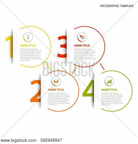 Info Graphic With Numbers Tucked In His Pocket Template Vector Eps 10