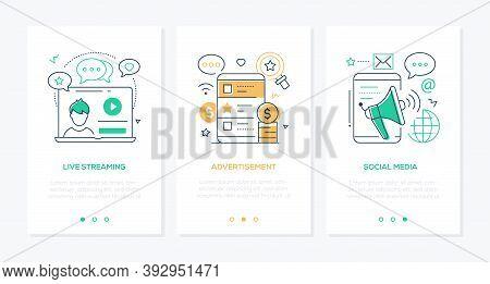Blog Concept Line Design Style Web Banners