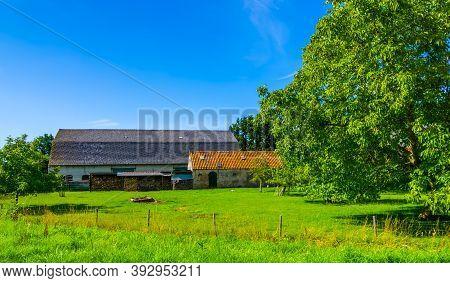 Classical Dutch Farm Building, Waterlandkerkje, Zeeland, The Netherlands