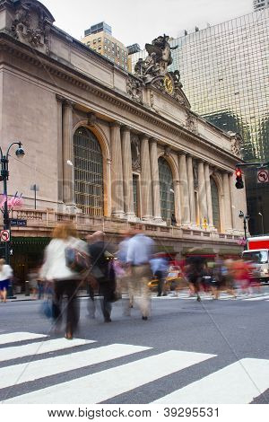 Rush Hour At Grand Central, New York