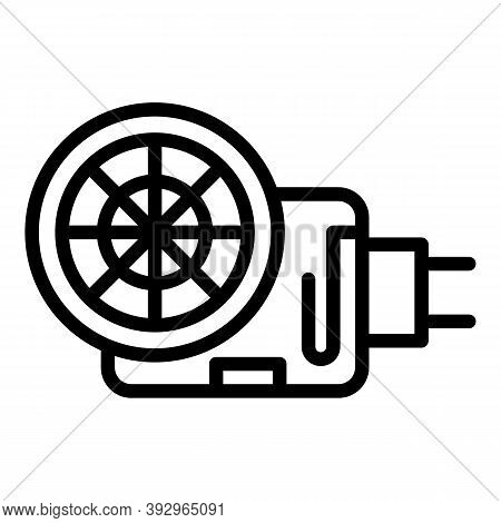 Sewage Pump Icon. Outline Sewage Pump Vector Icon For Web Design Isolated On White Background