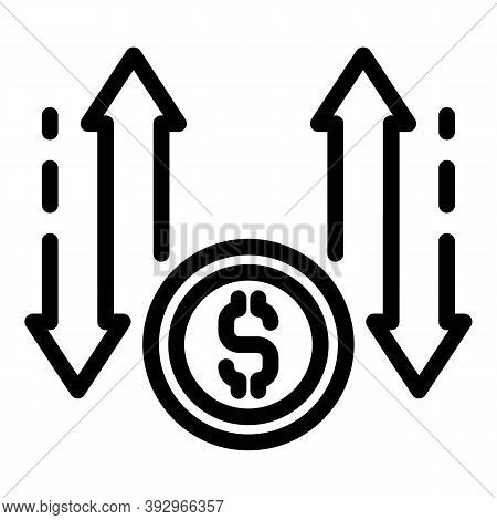 Monetization Process Icon. Outline Monetization Process Vector Icon For Web Design Isolated On White