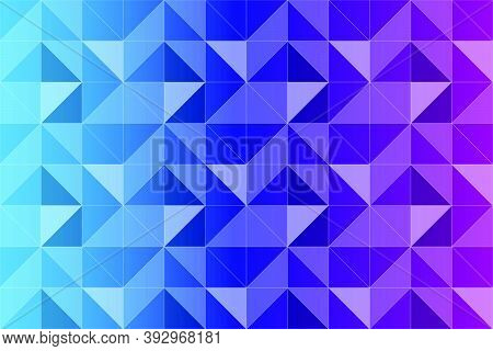 Triangular Gradient Pattern. Repetition Of Triangular Shaped Elements. Abstract Background With Grad