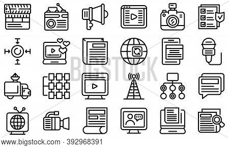 Actualization Icons Set. Outline Set Of Actualization Vector Icons For Web Design Isolated On White
