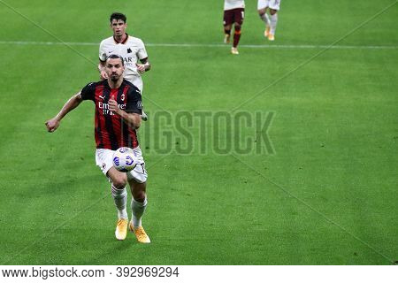 Milano, Italy. 26th October 2020. Zlatan Ibrahimovic  Of Ac Milan   During The  Serie A Match  Betwe