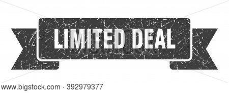 Limited Deal Grunge Vintage Retro Band. Limited Deal Ribbon