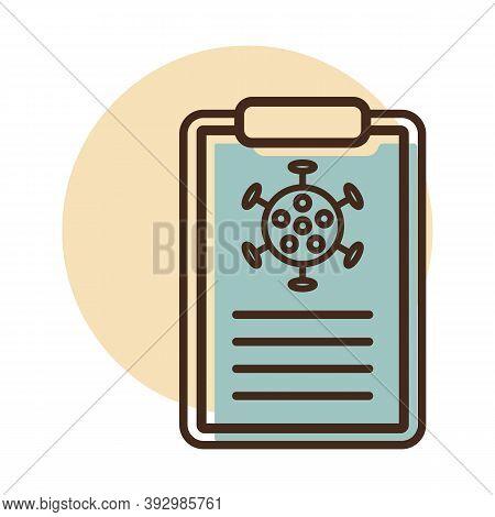 Medical Test Form For New Corona Virus Vector Icon. Coronavirus Test Form. Getting Covid-19 Test. Me