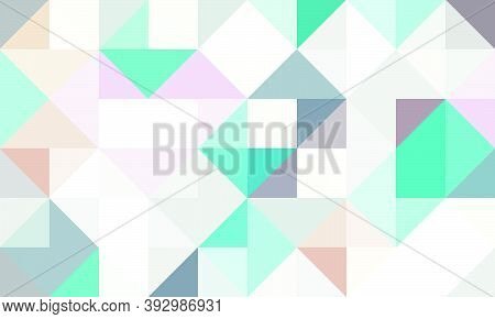 Geometric Pattern Background Composed By A Sequence Of Overlapped Squares And Triangles With Differe