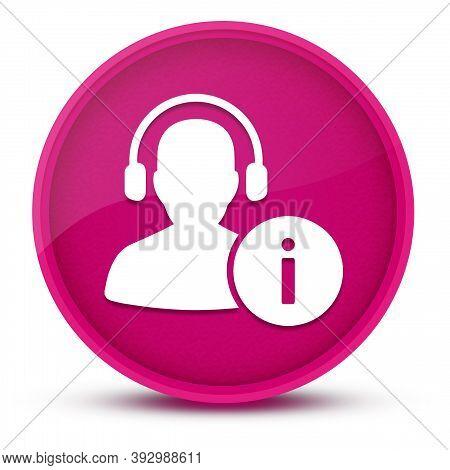 Help Desk Luxurious Glossy Pink Round Button Abstract Illustration