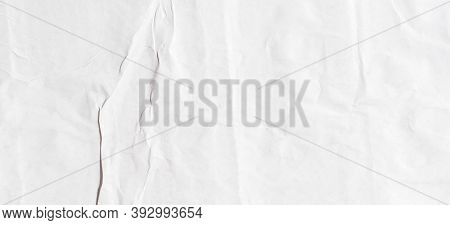 Old White Paper Ripped Torn Paper Background Blank Creased Crumpled Posters Placard Grunge Textures