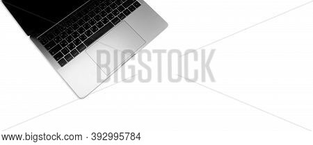 New High-speed Thin Silver Aluminum Laptop Computer Notebook Side With Touchpad, Keyboard With Russi