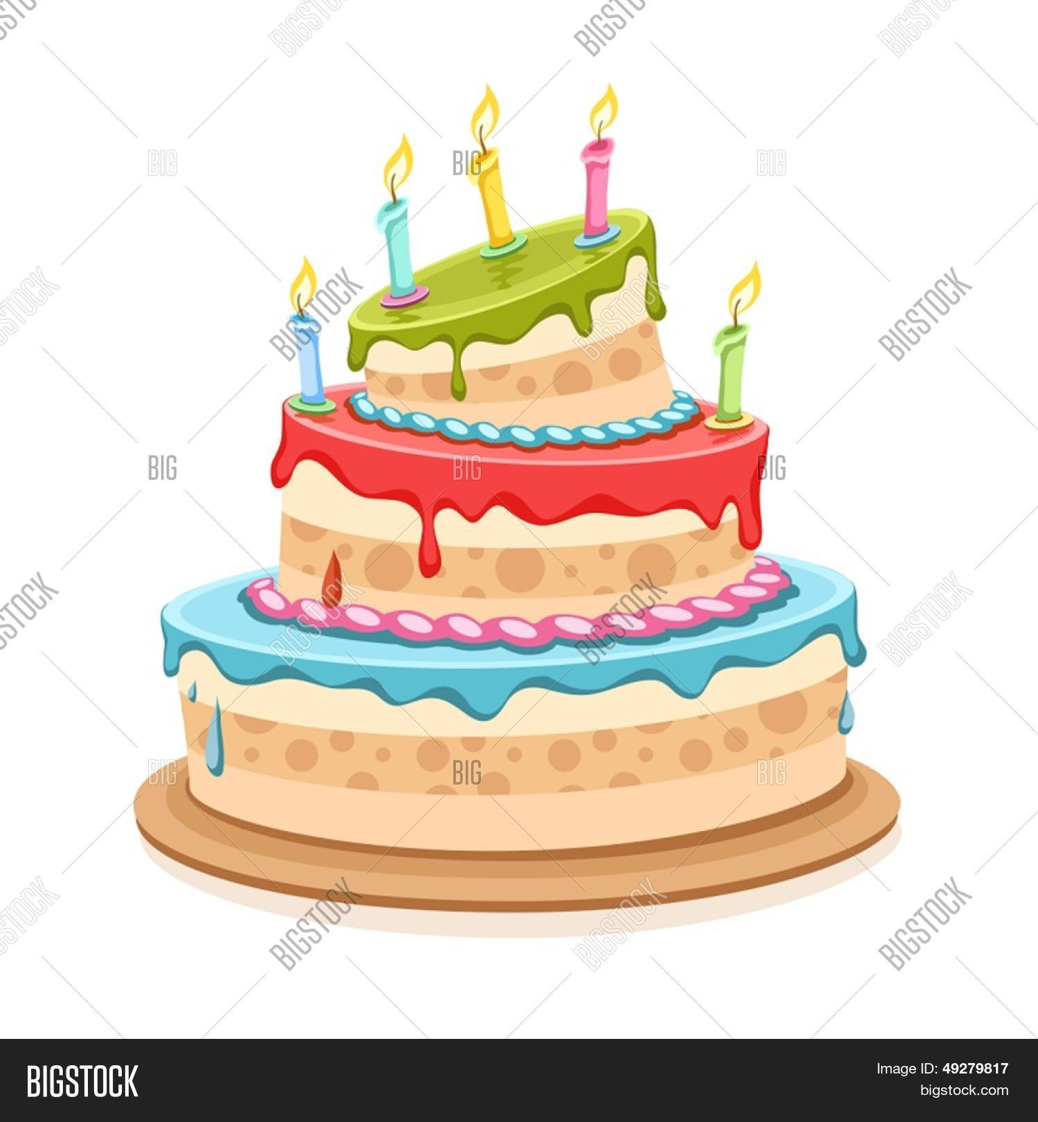 Sweet Birthday Cake Candles Vector Photo Bigstock