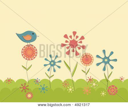 Retro Spring Garden