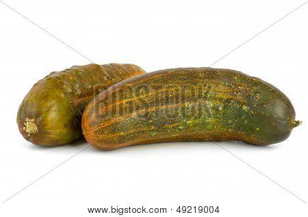 Two overripe cucumbers