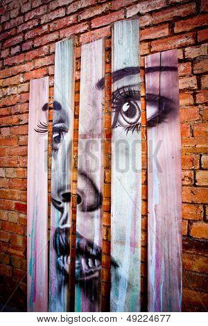 MELBOURNE - JUNE 29: Street art by unidentified artist. Melbourne's graffiti management plan recognises the importance of street art in a vibrant urban culture - June 29, 2013 in Melbourne, Australia