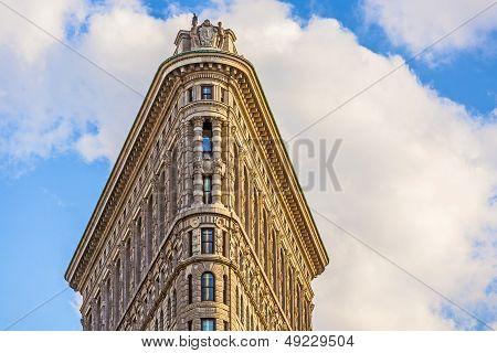 Facade Of The Flatiron Building  In Manhattan, New York