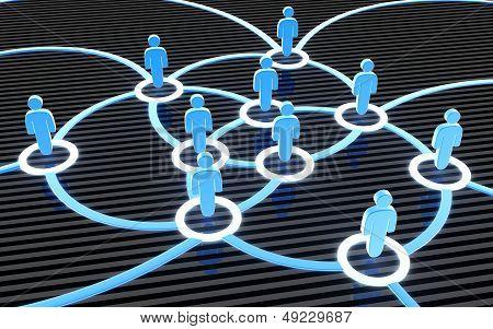 Social Network Blue