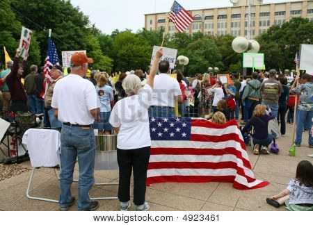 Dallas Tea Party Flags